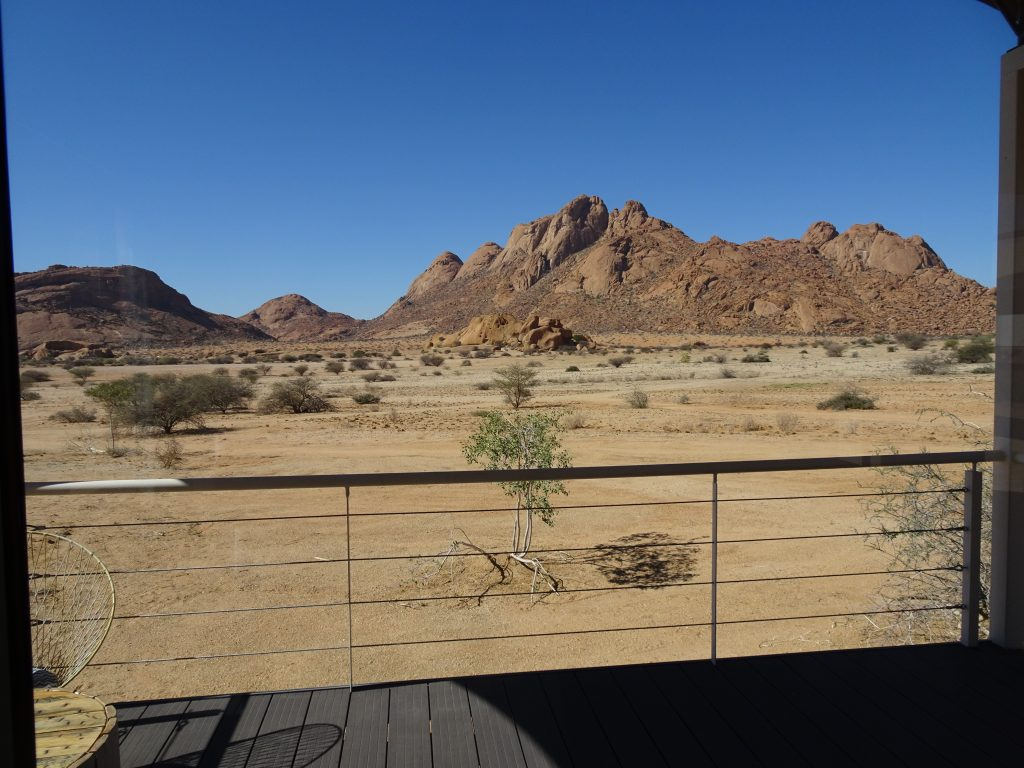 View from the Room at Spitzkoppen Lodge