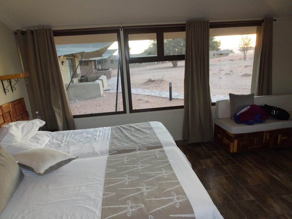 View from the room at Sossusvlei Lodge