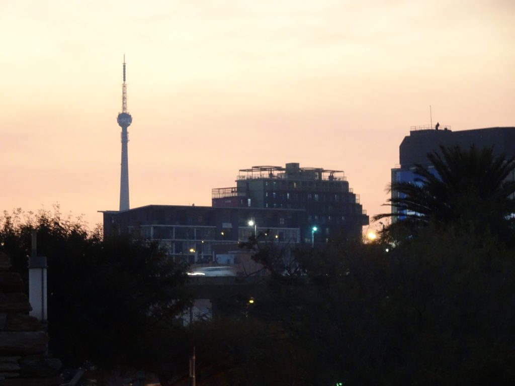 Sunset in Johannesburg